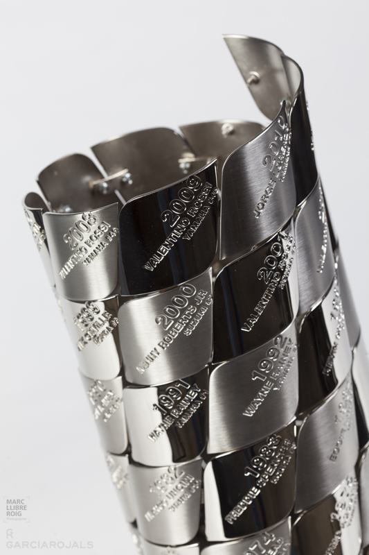 MotoGP™ Champions Tower Replica Trophy   Garcia Rojals   You Win, We Design. Hand Made. Design ...